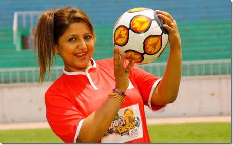 deepa shree niraula with football