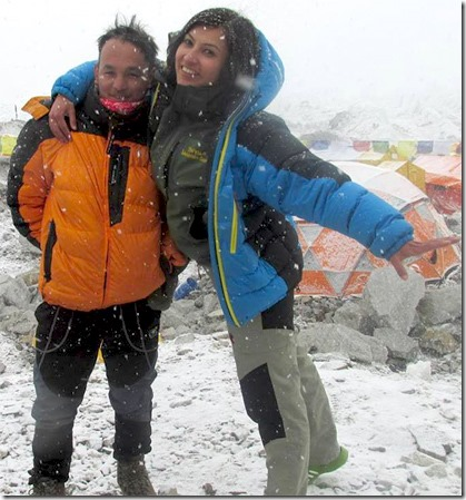 nisha_adhikari and snow