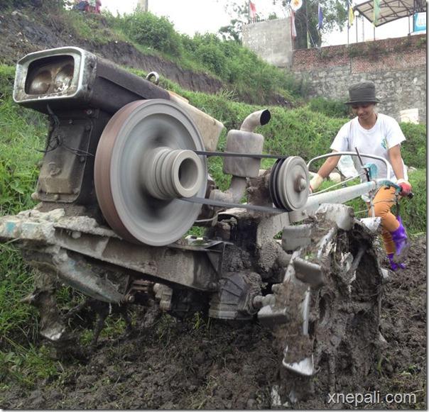 binita baral plowing field