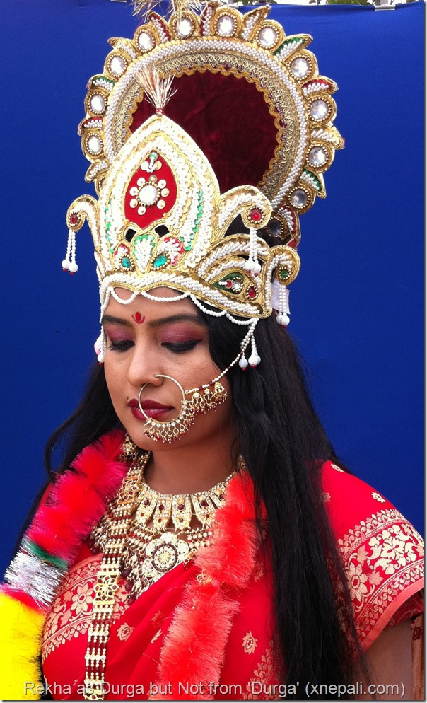 rekha thapa as durga in rawan