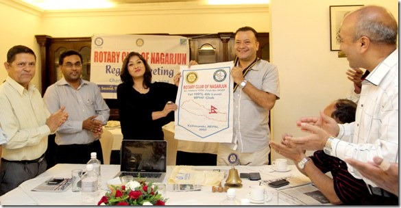 rotary club honor nisha adhikari