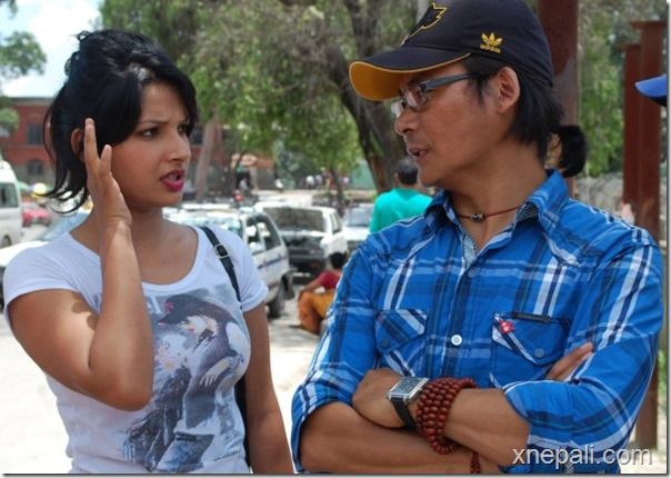 sumina ghimire with himgyap tasi director bhimdutta