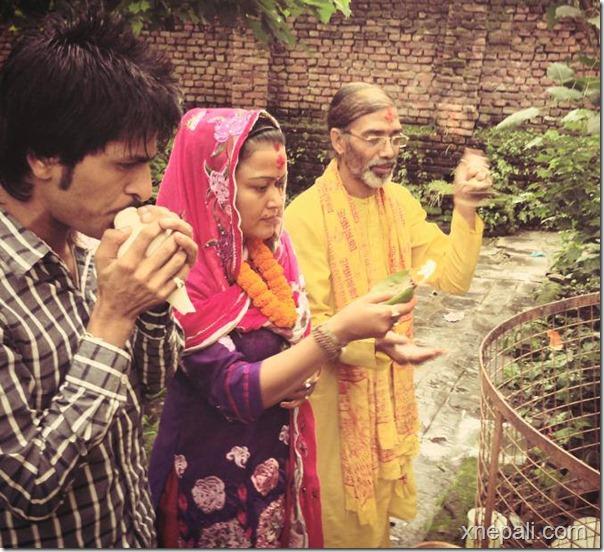 rekha thpaa puja yagya and marriage to tree (6)