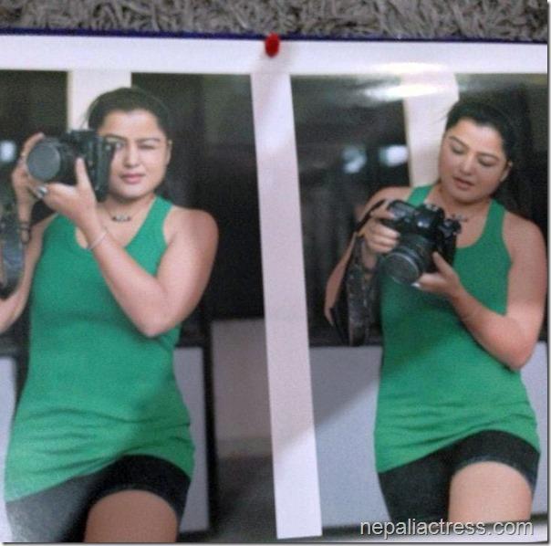 rekha thapa with camera