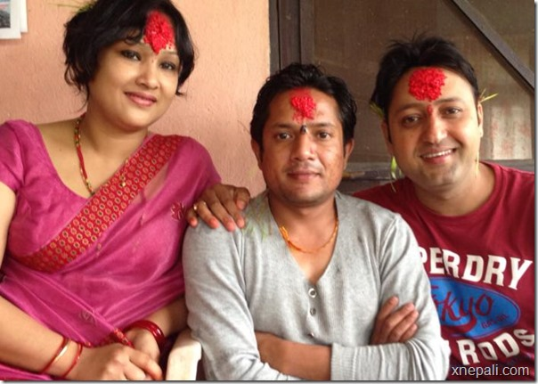 Director shyam bhattarai - in center.
