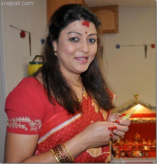 actress pooja chand-dashain tika