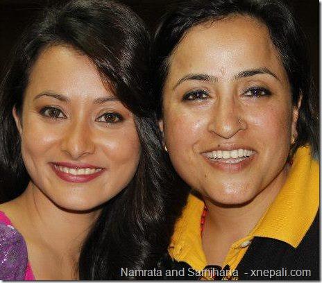namrata shrestha and samjhana rauniyar