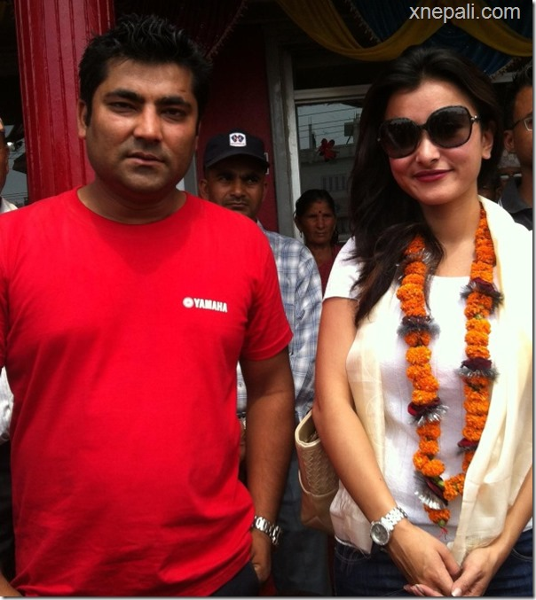 namrata shrestha with sunil rawal