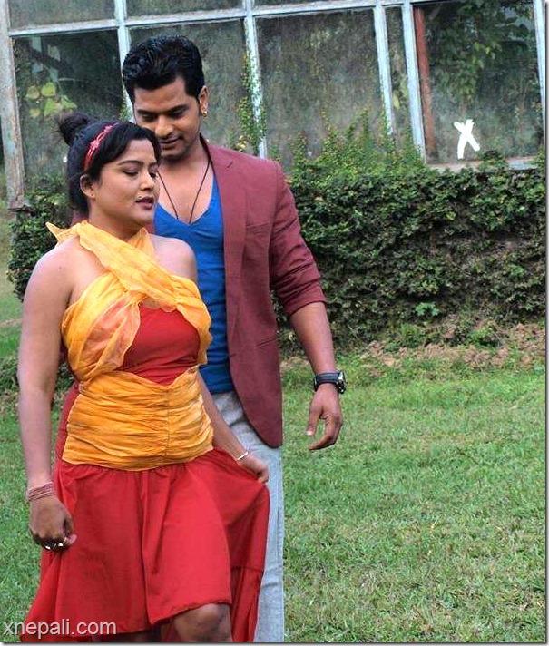 Damdar shooting - rekha thapa and sabin shrestha (13)