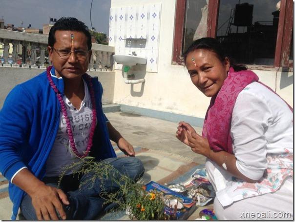 dinesh DC bhai tika with Kunti Moktan