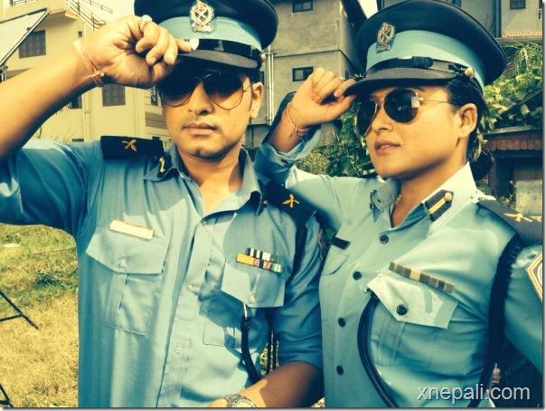 rekha thapa and sabin shrestha Damdar shooting