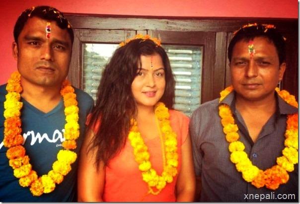 rekha thapa bhi tika in morang
