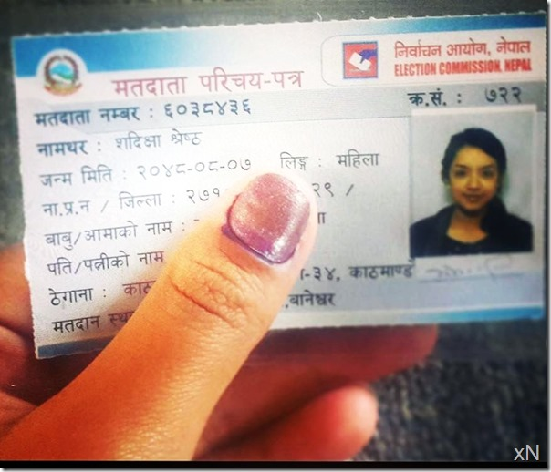 sadichha shrestha votes
