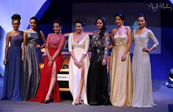 beauties at Hyundai Grand i10 event