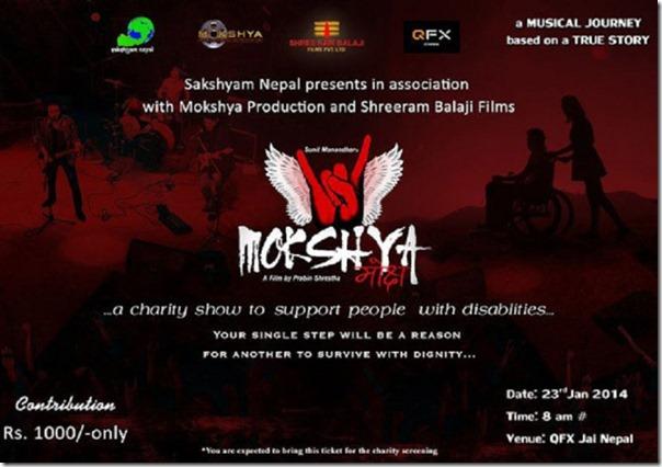 Mokshya-chrity show poster