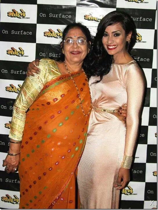 priyanka karki with grand mother at jholey premier