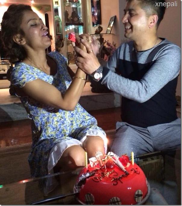 jharana thapa birthday cake sunil kumar thapa feeds