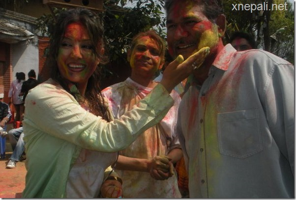 karishma manandhar holi celebration 2067