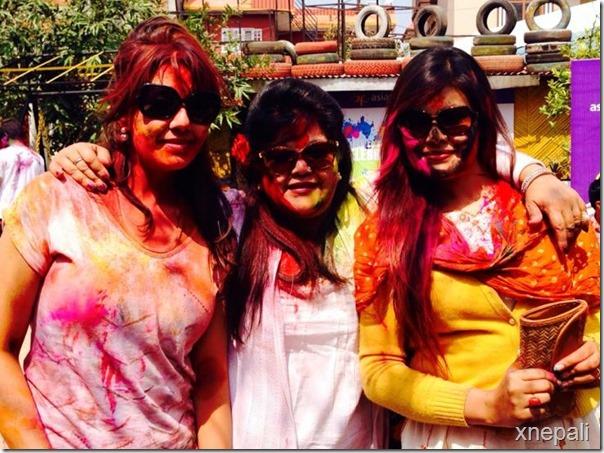 karishma manandhar with sunita dulal and Anjali shrestha