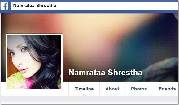 namrata shrestha in facebook