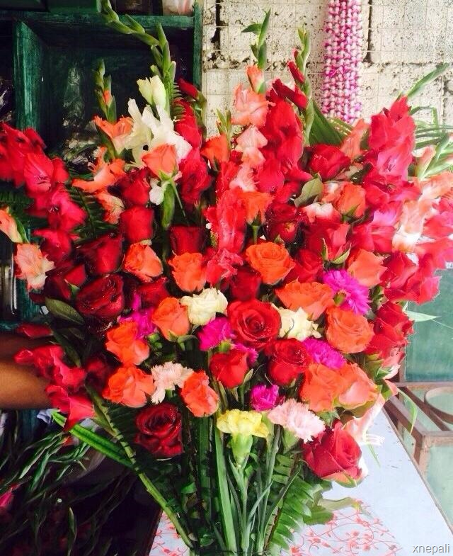 Rajesh Hamal fan from UK sent flowers to the newly married couple (1)