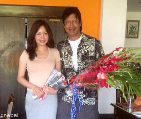 Rajesh Hamal fan from UK sent flowers to the newly married couple (5)