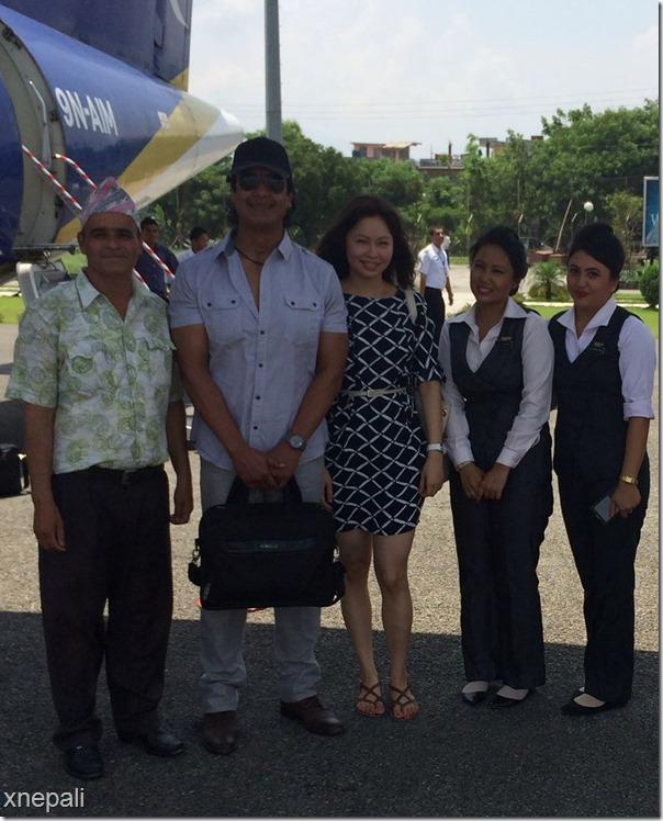 rajesh hamal honeymoon trip to pokhara airport