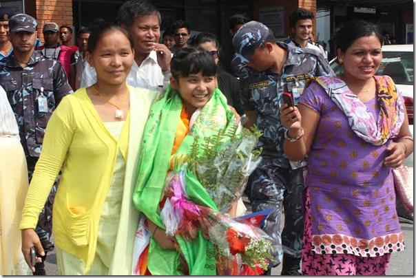 teriya-magar arrives in kathmandu