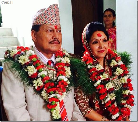 mithila and motilal happily pose after marriage