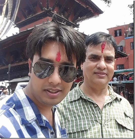 mohit bansha acharya with his dad