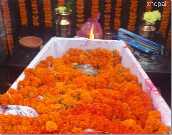 body of shree krishna shrestha covered in flower (4)