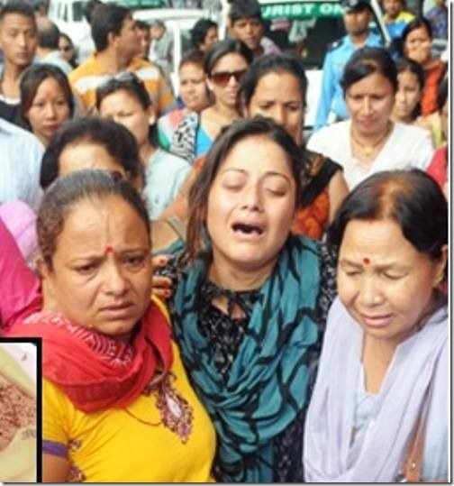 shweta khadka mourning