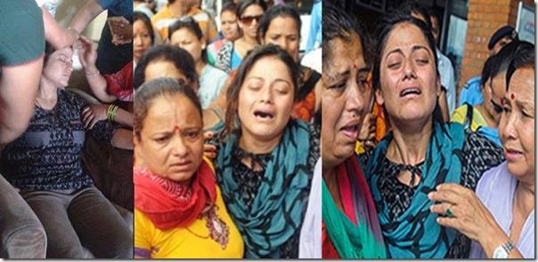 sweta khadka mourning