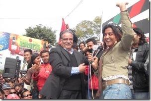 rekha dances with prachanda