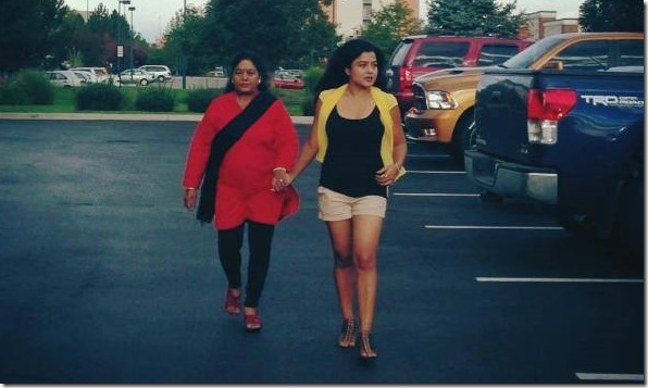 rekha in usa with mother
