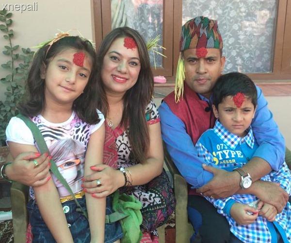 Jitu nepal with his family