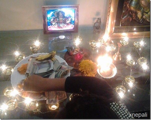 neeta dhungana deepawali and laxmi puja