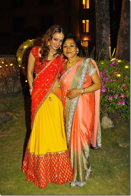 Jharana-Bajracharya-with mother lalana -Wedding-2015-