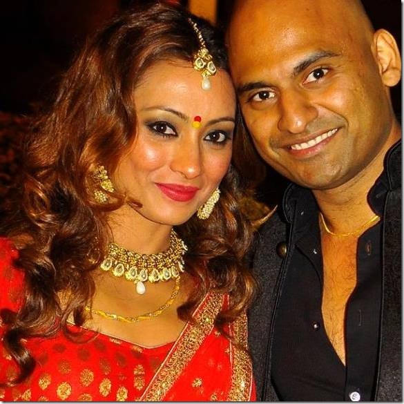 jharana bajrachaya with her husband rahul agarwal