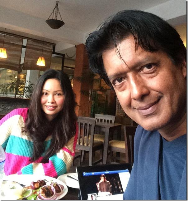 rajesh hamal and madhu bhattarai selfie