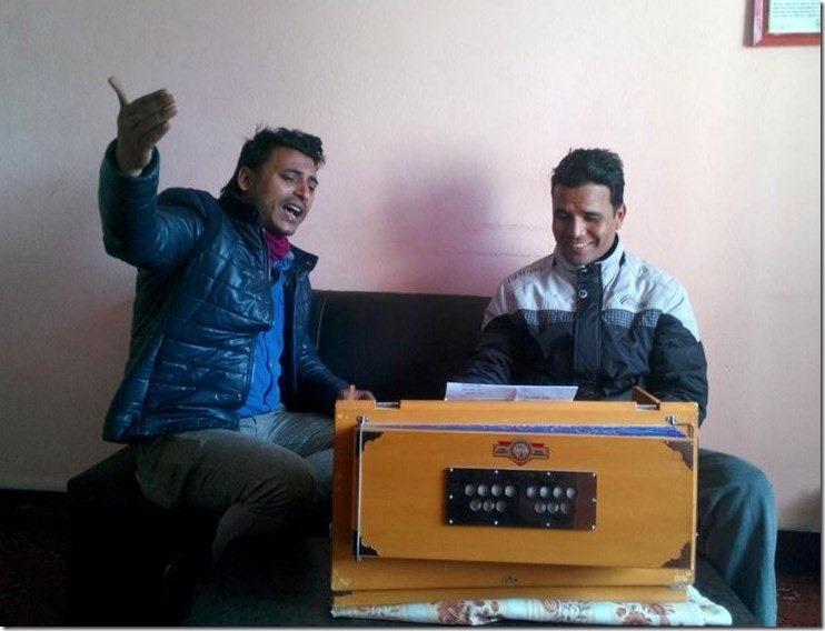 singer yubaraj chaulagaina and santosh shrestha