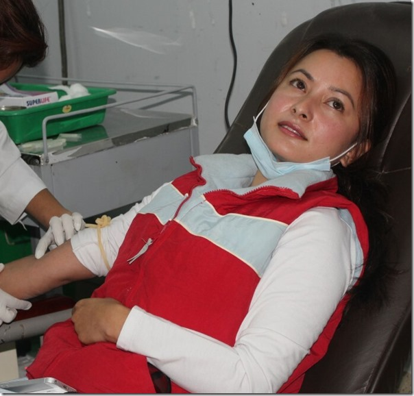 namrata shrestha blood donation