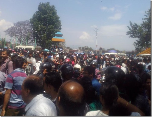 people come out at new road gate
