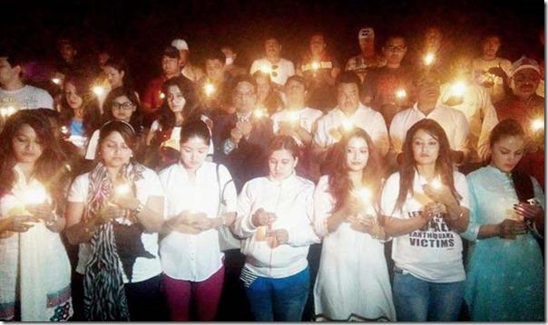remembring the quake victims