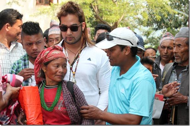suman singh distributes materials