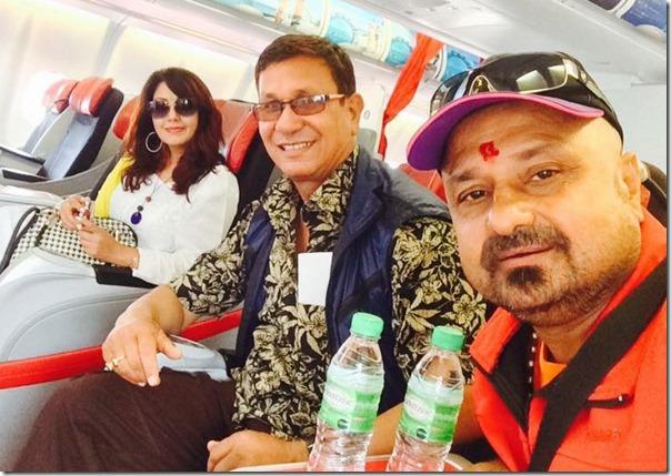 karishma manandhar on her way to malaysis