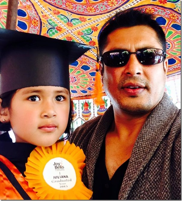dhiren shakya with his daughter
