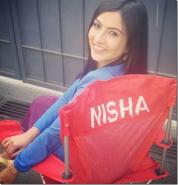 nisha adhikari actress chair in how funny
