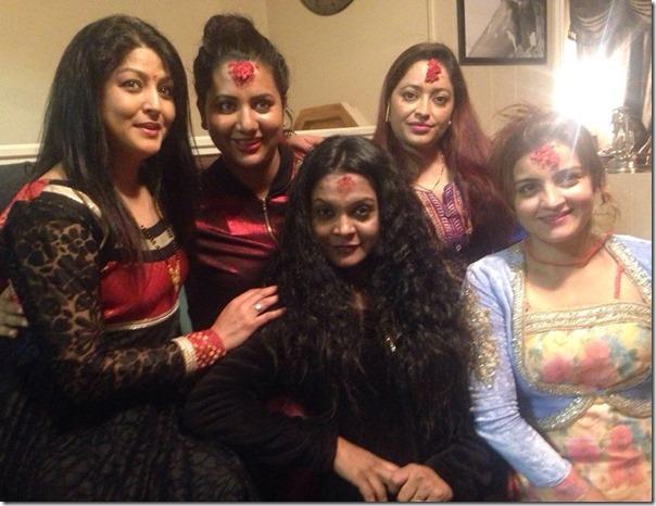 Nepali actress dashain tika in usa