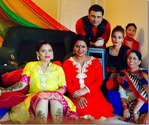 raj ballav koirala sister marriage mehandi ceremony